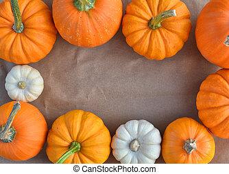 Pumpkin border background