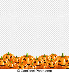 Pumpkin Border Transparent Background
