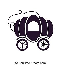 pumpkin carriage fairytale object isolated icon vector ...