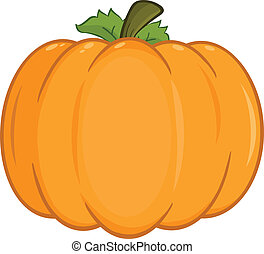 Pumpkin Cartoon Illustration - Pumpkin Cartoon Character...