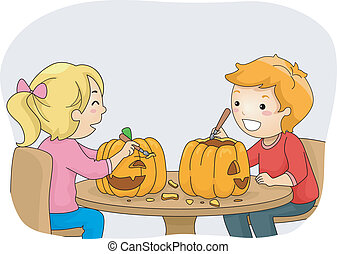pumpkin carving illustrations and clipart 6 341 pumpkin carving rh canstockphoto com Halloween Clip Art pumpkin carving clipart free