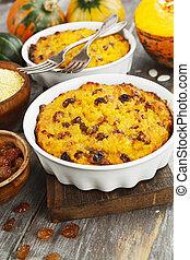 Pumpkin casserole with millet