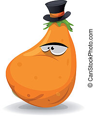 Pumpkin Character With Hat