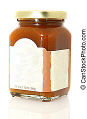 Pumpkin Cinnamon Spread - Jar of pumpkin spice spread with...