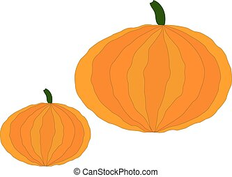 Pumpkin colorful icon. Pumpkin - a big beautiful vegetable, the symbol of Halloween and Thanksgiving.