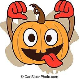 Pumpkin crazy vector