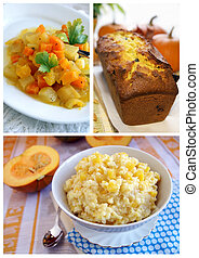 Pumpkin dishes collage