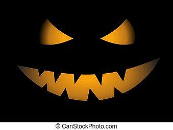 Pumpkin Face close up