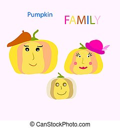 pumpkin FAMILY clip art. Happy thanksgiving.