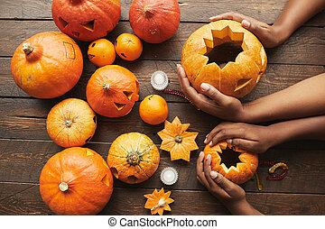 Pumpkin Flat Lay