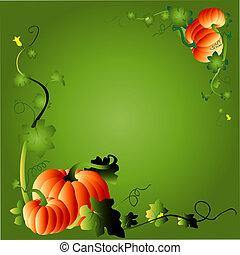 pumpkin & foliage frame