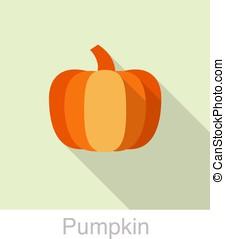 pumpkin food flat icon design, vector illustration