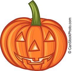 Pumpkin for Halloween vector illustration
