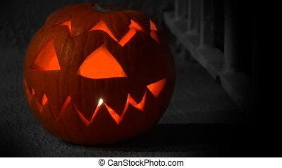 Pumpkin FX - Colorfull orange Jack-O-Lantern isolated on a...