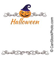 pumpkin- halloween background with place for text