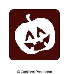 pumpkin halloween card icon