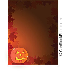 Pumpkin - Halloween card