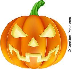 Pumpkin Halloween Jack O Lantern Cartoon - A pumpkin ...