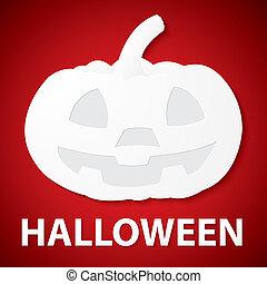 Pumpkin halloween paper