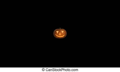 Pumpkin halloween spooky trick or treat face carved haloween punkin 4k