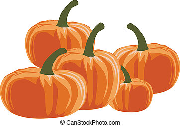 Pumpkin - halloween, vector illustration