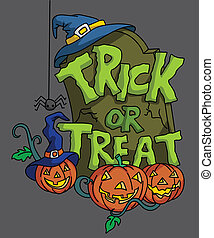 Pumpkin Haloween trick or treat