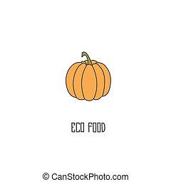 Pumpkin hand drawn vector illustration.