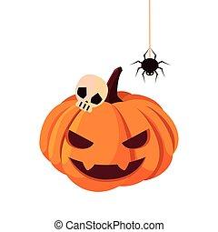 pumpkin happy halloween celebration design