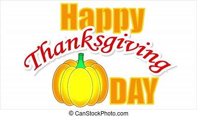 Pumpkin happy thanksgiving, art video illustration.