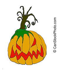 Pumpkin Head - an evil halloween design