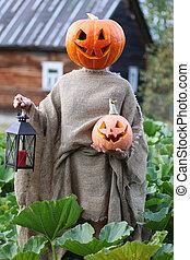 pumpkin head deamon horror