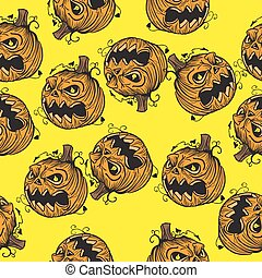 pumpkin head pattern