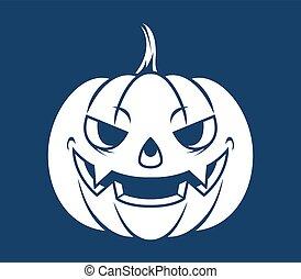 Pumpkin Head Silhouette