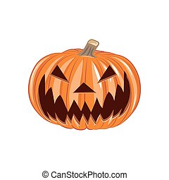 Pumpkin head, vector illustration of Halloween theme
