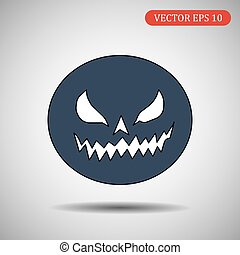Pumpkin. Helloween. Vector isolated