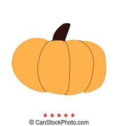 Pumpkin icon . Different color .