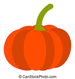 Pumpkin icon, flat style