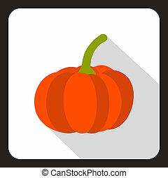 Pumpkin icon in flat style