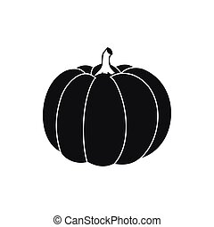 Pumpkin icon in simple style