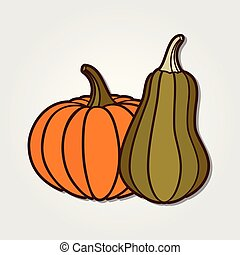 Pumpkin icon isolated on white background.