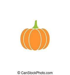 pumpkin icon - orange vector