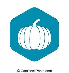 Pumpkin icon, simple style