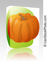 Pumpkin illustration box package