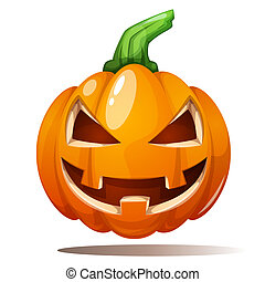 Pumpkin illustration. Horror, fear, happy halloween. -...