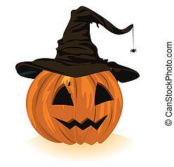 pumpkin in the hat