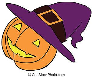 Pumpkin in Witch Hat