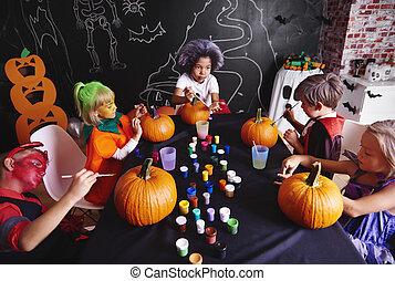 Pumpkin is a symbol of halloween