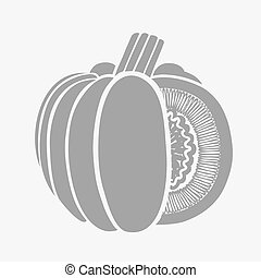 Pumpkin Isolated Drawing.