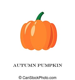 Pumpkin Isolated. Flat and Cartoon Design Style. Vector Illustration