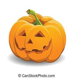 Pumpkin isolated on white. vector illustration.